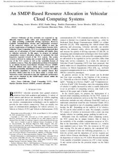 An SMDP-Based Resource Allocation in Vehicular Cloud Computing ...