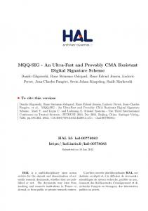 An Ultra-Fast and Provably CMA Resistant Digital Signature Scheme