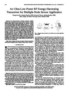 An Ultra-Low-Power RF Energy-Harvesting Transceiver ... - IEEE Xplore