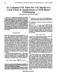 An Unbiased FIR Filter for TIE Model of a Local Clock in ... - IEEE Xplore