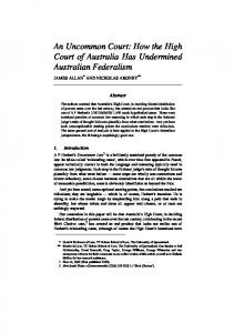 An Uncommon Court: How the High Court of Australia ... - SSRN papers