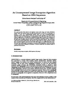 An Uncompressed Image Encryption Algorithm Based on DNA - AIRCC