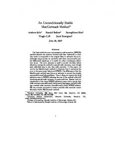 An Unconditionally Stable MacCormack Method - PhysBAM - Stanford ...