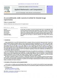 An unconditionally stable numerical method for ... - Semantic Scholar