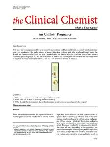 An Unlikely Pregnancy - Clinical Chemistry