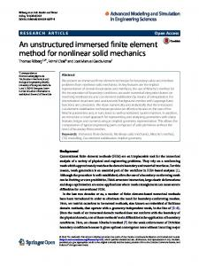 An unstructured immersed finite element method for nonlinear solid