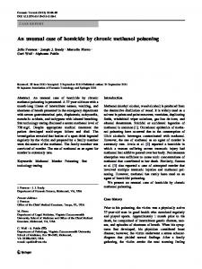 An unusual case of homicide by chronic methanol ... - Springer Link