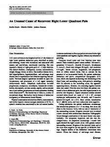 An Unusual Cause of Recurrent Right Lower Quadrant ... - Springer Link