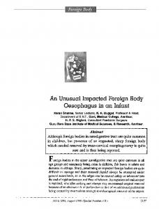 An unusual impacted foreign body oesophagus in an ... - Springer Link