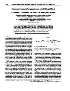 An unusual reaction of propargylamines with CH2I2 ... - Springer Link