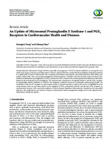 An Update of Microsomal Prostaglandin E Synthase-1 and PGE2 ...