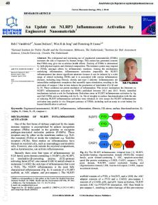 An Update on NLRP3 Inflammasome Activation by