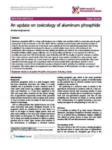 An update on toxicology of aluminum phosphide - BioMedSearch