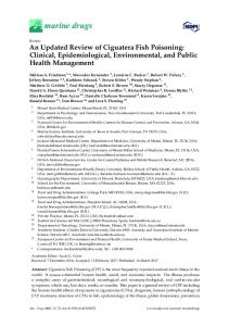 An Updated Review of Ciguatera Fish Poisoning: Clinical ... - MDPI