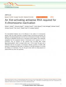 An Xist-activating antisense RNA required for X ... - Semantic Scholar