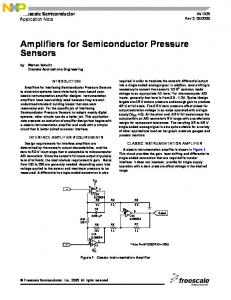 AN1325 Amplifiers for Semiconductor Pressure Sensors - Freescale ...