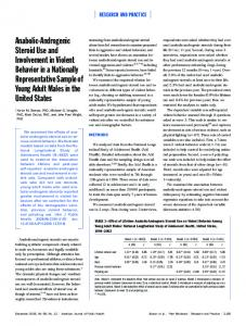 Anabolic-Androgenic Steroid Use and Involvement in Violent Behavior ...