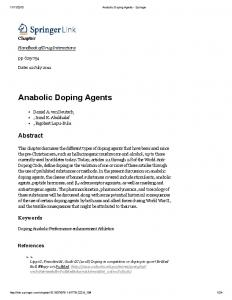 Anabolic Doping Agents