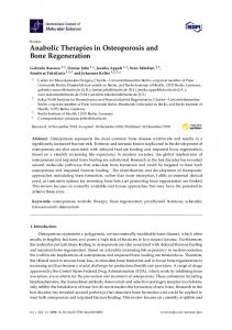 Anabolic Therapies in Osteoporosis and Bone Regeneration - MDPI