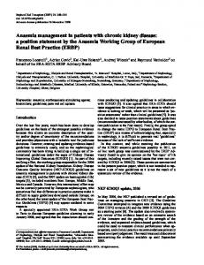 Anaemia management in patients with chronic kidney disease: a ...