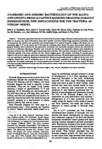 anaerobic and aerobic bacteriology of the saliva and ... - venom doc
