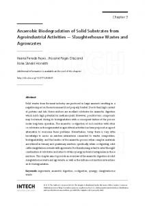 Anaerobic Biodegradation of Solid Substrates from Agroindustrial ...