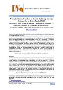 Anaerobic Biotransformation of N-oxide Containing Aromatic ...