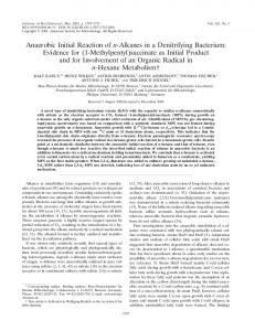 Anaerobic Initial Reaction of n-Alkanes in a Denitrifying Bacterium ...