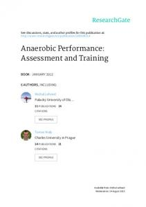 Anaerobic Performance: Assessment and Training