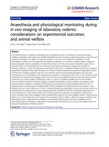 Anaesthesia and physiological monitoring during in ... - BioMedSearch