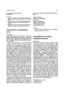 Anaesthesia for cardiac transplant patients - Springer Link