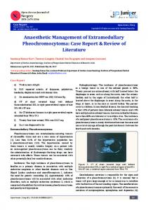 Anaesthetic Management of Extramedullary ... - Juniper Publishers