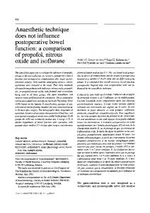 Anaesthetic technique does not influence ... - Springer Link