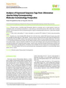 Analyses of Expressed Sequence Tags from Chironomus ... - CiteSeerX