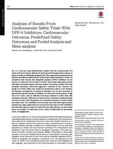 Analyses of Results From Cardiovascular Safety ... - Diabetes Care