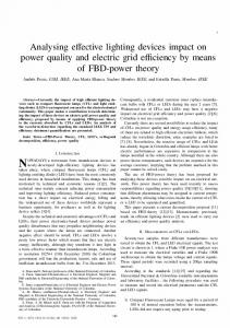 Analysing effective lighting devices impact on power ... - IEEE Xplore