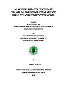 analysing impacts of climate change on forests of