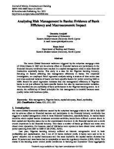 Analysing Risk Management in Banks: Evidence of ... - SSRN papers
