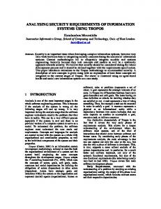analysing security requirements of information ... - Semantic Scholar
