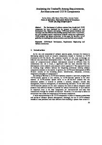 Analysing the Tradeoffs Among Requirements ... - Semantic Scholar