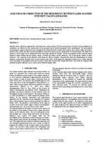 analysis and correction of the dependency between ... - ISPRS Archives