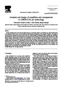 Analysis and design of amplifiers and comparators ... - Semantic Scholar