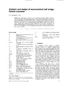 Analysis and design of asymmetrical half bridge flyback converter ...