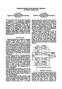Analysis and Design of Power Electronic Transformer for ... - IEEE Xplore