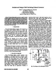 Analysis and design of self-oscillating flyback converter