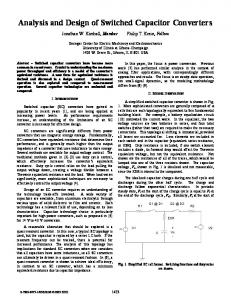 Analysis and Design of Switched Capacitor Converters