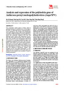 Analysis and expression of the polyhedrin gene of Antheraea pernyi ...