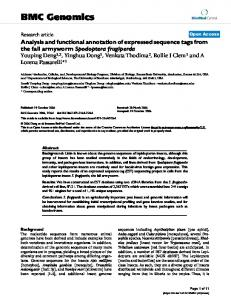 Analysis and functional annotation of expressed sequence tags from ...