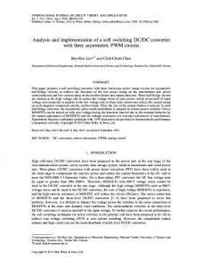 Analysis and implementation of a soft switching ... - Wiley Online Library