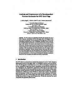 Analysis and Improvement of a Pseudorandom Number Generator for ...